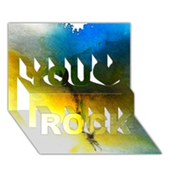 Watercolor Abstract You Rock 3d Greeting Card (7x5)