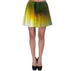 Watercolor Abstract Skater Skirts