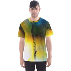 Watercolor Abstract Men s Sport Mesh Tees