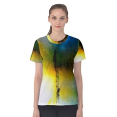 Watercolor Abstract Women s Cotton Tees
