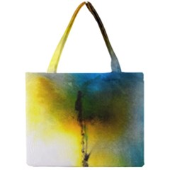 Watercolor Abstract Tiny Tote Bags