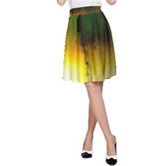 Watercolor Abstract A Line Skirts