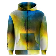 Watercolor Abstract Men s Zipper Hoodies