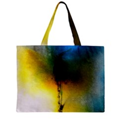 Watercolor Abstract Zipper Tiny Tote Bags