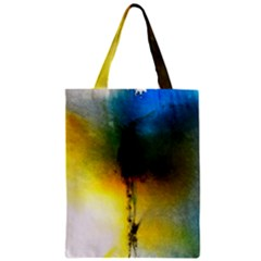 Watercolor Abstract Zipper Classic Tote Bags