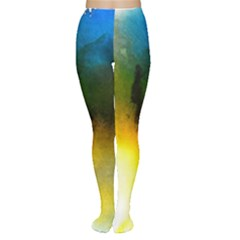Watercolor Abstract Women s Tights