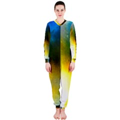 Watercolor Abstract Onepiece Jumpsuit (ladies)