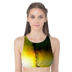 Watercolor Abstract Tank Bikini Top