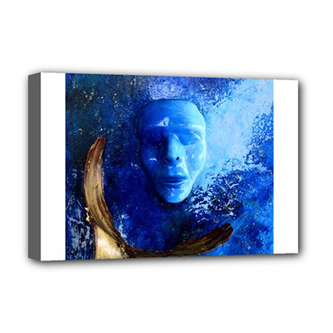 Blue Mask Deluxe Canvas 18  X 12
