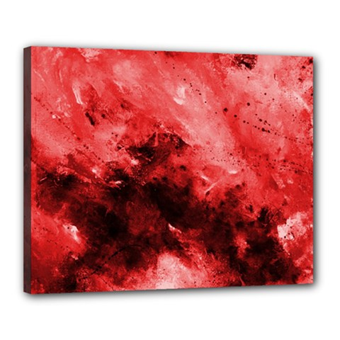 Red Abstract Canvas 20  X 16