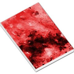 Red Abstract Large Memo Pads