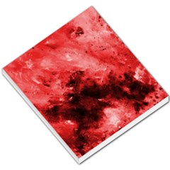 Red Abstract Small Memo Pads