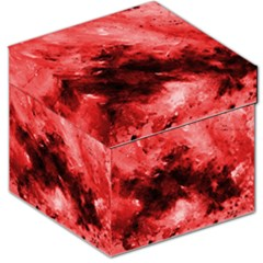 Red Abstract Storage Stool 12