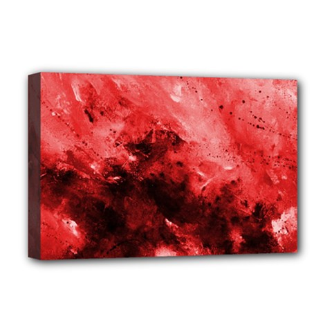 Red Abstract Deluxe Canvas 18  X 12