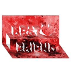Red Abstract Best Friends 3D Greeting Card (8x4)