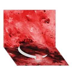 Red Abstract Circle Bottom 3d Greeting Card (7x5)