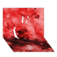 Red Abstract Apple 3d Greeting Card (7x5)