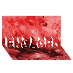 Red Abstract ENGAGED 3D Greeting Card (8x4)