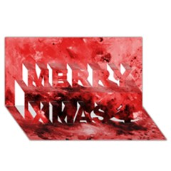 Red Abstract Merry Xmas 3D Greeting Card (8x4)