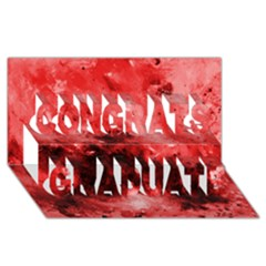 Red Abstract Congrats Graduate 3d Greeting Card (8x4)