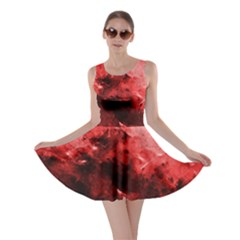 Red Abstract Skater Dresses