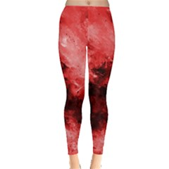 Red Abstract Women s Leggings