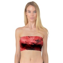 Red Abstract Women s Bandeau Tops