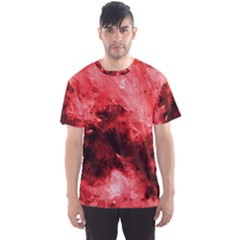 Red Abstract Men s Sport Mesh Tees