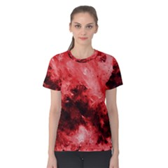 Red Abstract Women s Cotton Tees