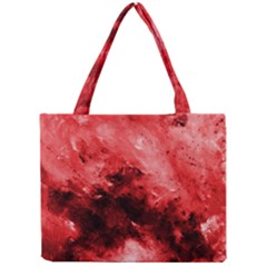 Red Abstract Tiny Tote Bags