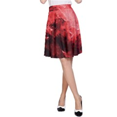 Red Abstract A-Line Skirts