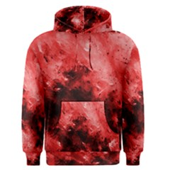 Red Abstract Men s Pullover Hoodies