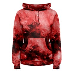 Red Abstract Women s Pullover Hoodies