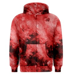 Red Abstract Men s Zipper Hoodies