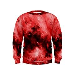 Red Abstract Boys  Sweatshirts
