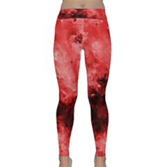 Red Abstract Yoga Leggings