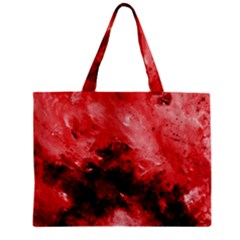Red Abstract Zipper Tiny Tote Bags