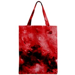 Red Abstract Zipper Classic Tote Bags