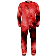 Red Abstract OnePiece Jumpsuit (Men)
