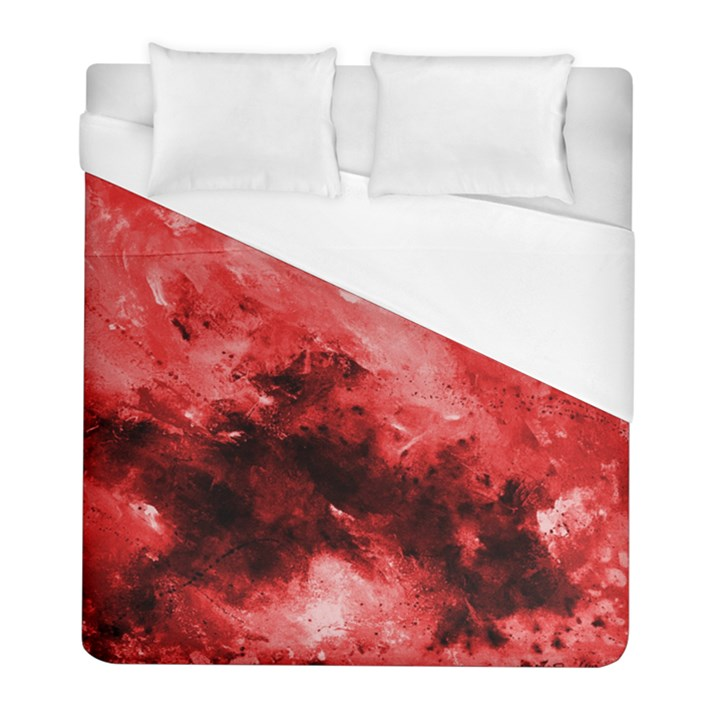 Red Abstract Duvet Cover Single Side (Twin Size)