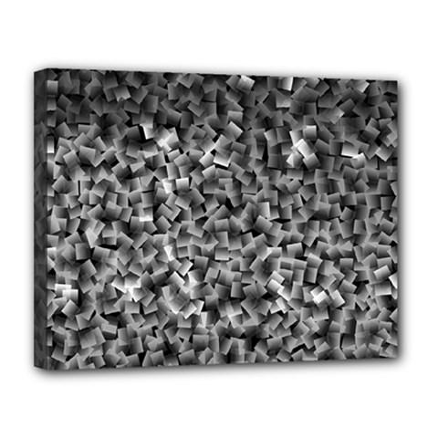 Gray Cubes Canvas 14  X 11