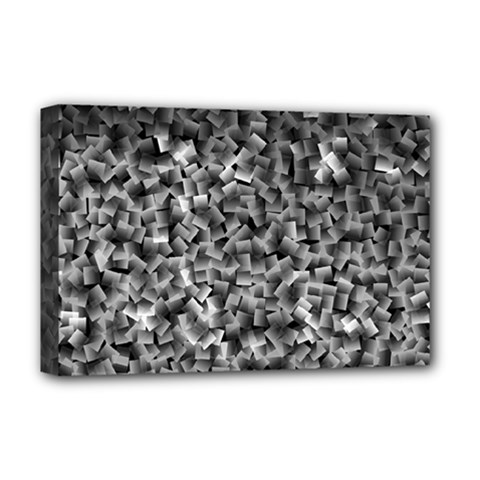 Gray Cubes Deluxe Canvas 18  X 12