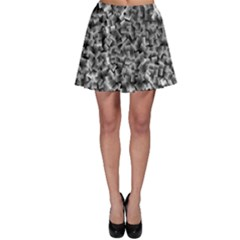 Gray Cubes Skater Skirts