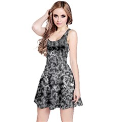 Gray Cubes Reversible Sleeveless Dresses