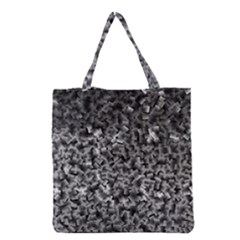 Gray Cubes Grocery Tote Bags