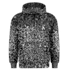 Gray Cubes Men s Zipper Hoodies