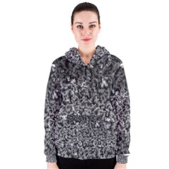Gray Cubes Women s Zipper Hoodies