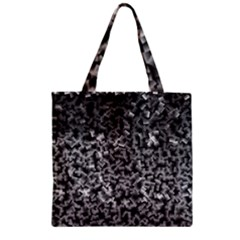 Gray Cubes Zipper Grocery Tote Bags