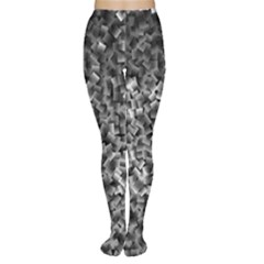 Gray Cubes Women s Tights