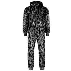 Gray Cubes Hooded Jumpsuit (Men)